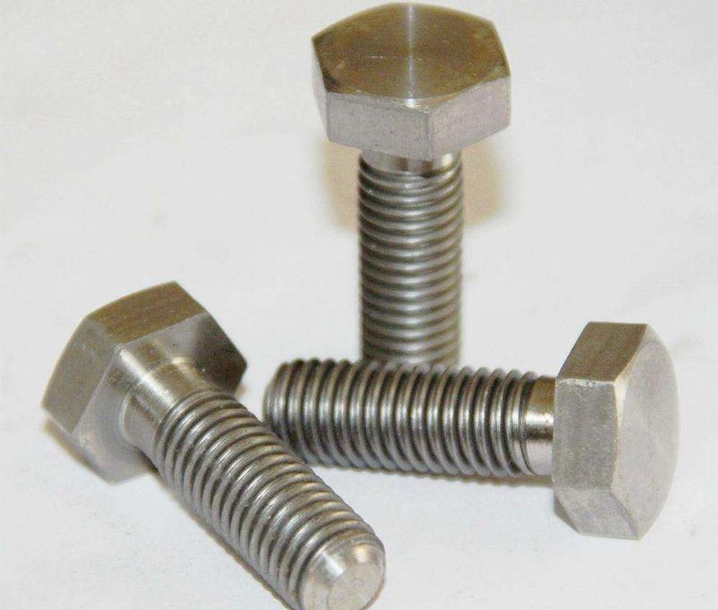 din933 hex head titanium bolts