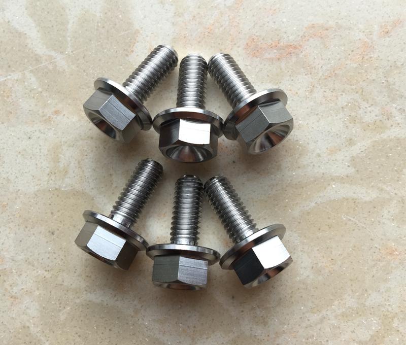 Titanium flange bolts