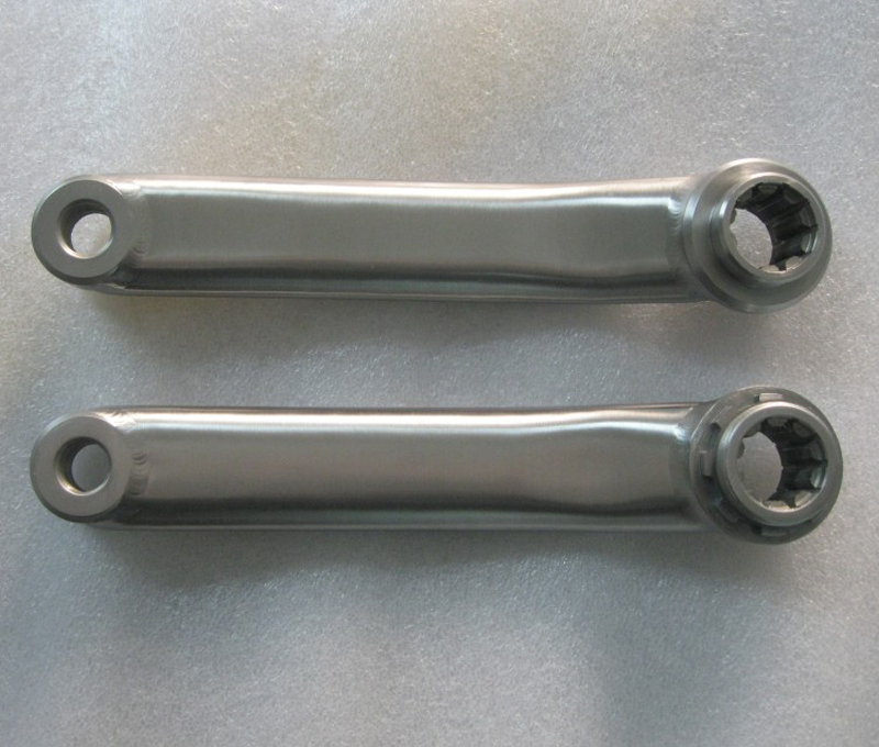 Titanium bicycle crank